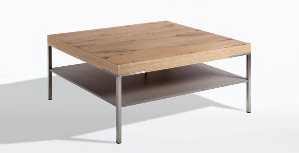 Gwinner CT501-75 Couchtisch / Ablage: Lack seidenmatt fango - Platte: Balkeneiche honig