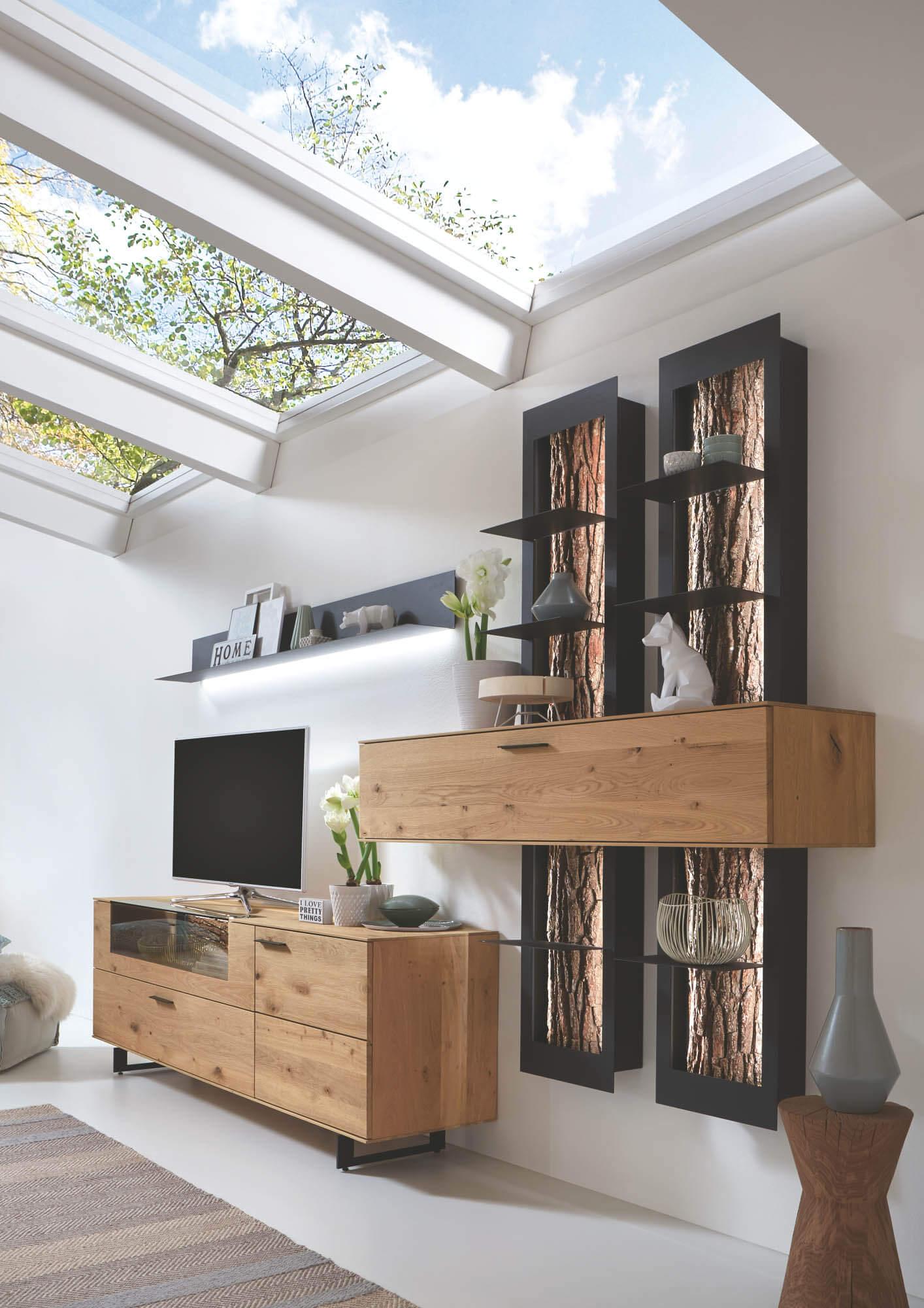 Einfach Wohnwand Braun Fotos Von Wohndesign Ideen