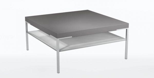 Gwinner CT501-85 Couchtisch / Ablage; Lack seidenmatt weiß - Platte: Lack seidenmatt fango